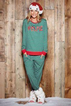 Зеленая полосатая пижама #Elfie с леггинсами - Покупайте прямо сейчас на сайте Next Direct: Беларусь