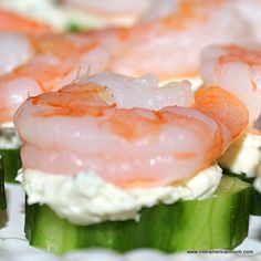 shrimp and cucumber bites more food appetizers easy appetizers shrimp ...