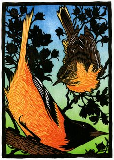 Orioles by Nick Wroblewski. We met him when living in Wisconsin and really enjoyed getting to know him and his art.