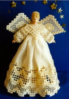 Angel of Dreams from Ruth Hanke at http://www.hankypankycrafts.com/needlework.html. This is my favorite!