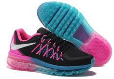 Air Maxs 2015 Women Pink Black Blue Shoes