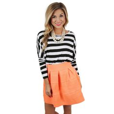 Chic Stripes Tee In Black | Impressions Online Women's Clothing Boutique #ShopImpressions
