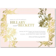 Eternal Romance - Signature Foil Wedding Invitations - Stacey Day - Light Gray - Gray : Front