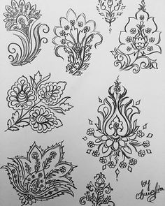 Some fast sketches #hennainspirations #indiandesigns #indiadesign #ornaments #decorations #patterns #design #floral #flowerdesign #floraldesign #henna #inspiration #art #artwork #sketch #drawing #persian #persianart