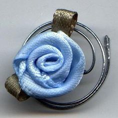 Spiral Hair Coils Beautiful Baby Blue Roses for by hairswirls1, $8.99
