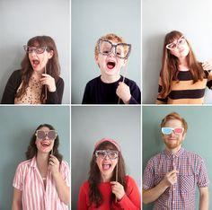 Downloadable Photobooth Eyeglasses Props