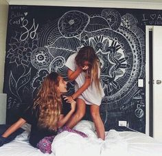 I have always wanted to use chalkboard paint to get creative on the walls!