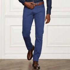 35a4aff90 Slim-Fit Stretch Moleskin Pant - Purple Label Classic - RalphLauren.com  Corduroy Pants