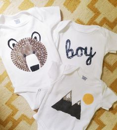 diy stenciled onesies awesome stencils - could use for other projects