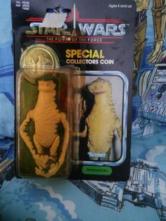 Star Wars Amanaman with coin in package Vintage by AlwaysPlanBVintage on Etsy