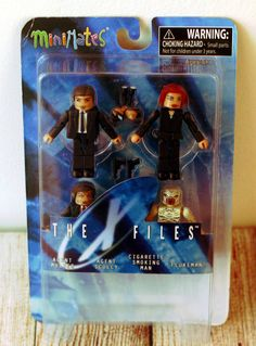 Minimates The X Files Agent Mulder Scully Cigarette Smoking Man Flukeman #Minimates