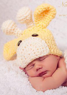 Baby giraffe crochet hat!