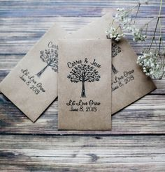 Eco Friendly Let Love Grow Wedding Seed Favors