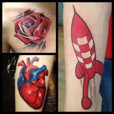 Tattoo - Et pr røde fra Spendlo. Custom Made Ink