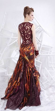 This girl is on fire/ Nicolas Jebran fantastic gown.
