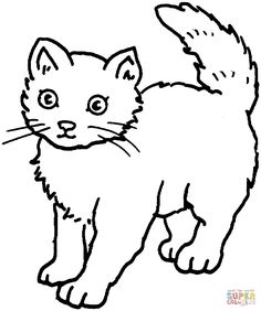realistic kitten coloring pages google search 1 line drawings