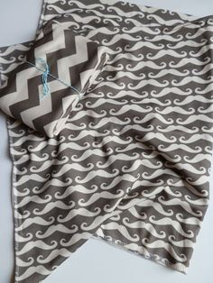 Mustache Baby Blanket Gray Organic Cotton Baby by littlehipsqueaks, $37.65  mustache and chevron? it was made for me!! #obsessed!