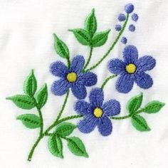 Awesome Most Popular Embroidery Patterns Ideas. Most Popular Embroidery Patterns Ideas. Hand Embroidery Tutorial, Embroidery Flowers Pattern, Simple Embroidery, Embroidery Transfers, Learn Embroidery, Hand Embroidery Designs, Vintage Embroidery, Cross Stitch Embroidery, Flower Patterns