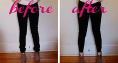 DIY regular jeans to ankle skinny jeans, great for fun sized people like me!
