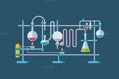 Chemical Laboratory Equipment by Kit8.net on Creative Market