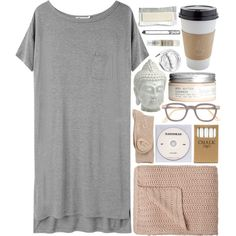 A fashion look from August 2013 featuring jersey dresses, hue socks and Le Labo. Browse and shop related looks. Cloudy Day Outfits, Lazy Day Outfits, Casual Outfits, Cute Outfits, Lounge Outfit, Lounge Wear, Sleepwear & Loungewear, Nightwear, Lingerie Sleepwear