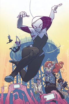 """Pssst. Hey… wanna see my SPIDER-GWEN #1 variant cover for @heroesonline?"" #SpiderGwen *"