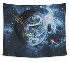 Amazon.com: Gear New Wall Tapestry, Planet Earth, Medium, 80 inches wide by 68 inches tall: Kitchen & Dining