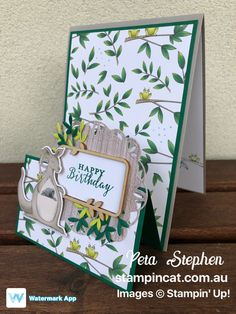 Stampin' Cat ESAD Animal Expedition Stampin' Up! Fun Fold Cards, Pop Up Cards, Folded Cards, Happy Birthday, Kids Birthday Cards, Kids Cards, Baby Cards, Easel Cards, Stamping Up Cards