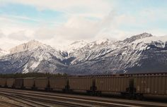 Behind the Jasper Station, this view slams you with awe. #Jasper #Canada #viarail