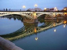 Puente de Triana, Sevilla <3 go back, get my lock and give it to the person i love