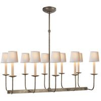 Visual Comfort SL5863AN E.F. Chapman Branched 10 Light 36 inch Antique Nickel Linear Pendant Ceiling Light in (None)