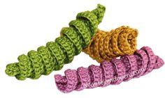 Tutorial: resortes tejidos a crochet!