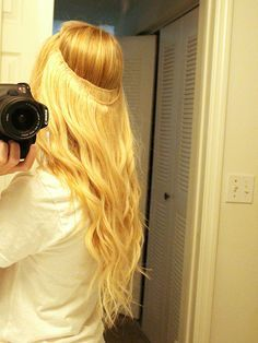 diy halo hair extensions 8