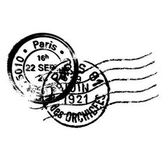 Sello de madera sello postal