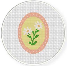 FREE for May 4th 2014 Only - Cameo Daisy Flower Cross Stitch Pattern