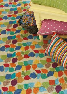 This would make such a fun family room/playroom rug!  It's so colorful yet it's not kid-corny