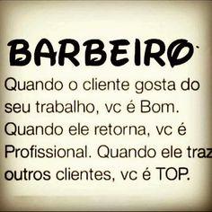 by Souza Barbearia Barber Quotes, Andis Clippers, Barber Logo, Clipper Cut, Barber Shop Decor, Shops, Slogan, Hair Cuts, Hair Color