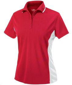 Charles River Apparel Style 2810 Women's Color Blocked Wicking Polo - SweatshirtStation.com #redpolo #ladiesgolfshirt #promotionalpolo