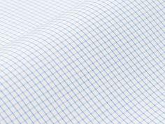 Leyser: feine Struktur, sehr feines Karo, hellblau auf weiß $77