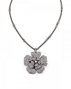 Joy 65.8ct CZ Hematite Pendant Necklace & Brooch