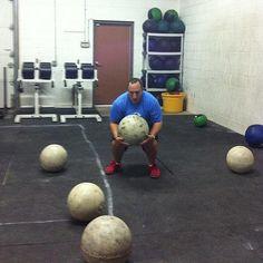 Candid CrossFit | Flickr - Photo Sharing! 80 lb. atlas stones!