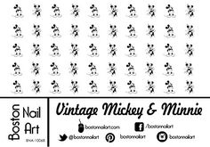 Vintage Mickey  Minnie Waterslide Nail Decals  50PC -- Details can be found by clicking on the image. Note:It is Affiliate Link to Amazon.