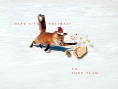 foxy holiday card