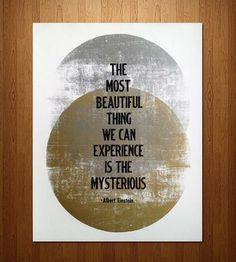 """Albert Einstein """"Mysterious"""""""