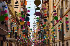 Barcelona color street