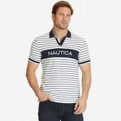 Lil Yachty s Nautica Heritage Favorites featuring The Slim Fit Signature Stripe  Polo Shirt Bright White Lil 33d0f67e6196c