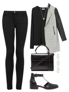 Untitled #1316 by susannem on Polyvore featuring Organic by John Patrick, Topshop, ASOS and Yves Saint Laurent