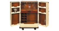 Orient Express Bar, OKL.  $1,349.00   Big enough for true bartending, but small enough to fit into a chic studio, this design hails from the Belle Époque. An era when armies of stewards and porters used to wheel trunks from the...