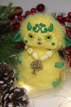 Cute animal creature doll ooak caterpillar art doll Poseable | Etsy Caterpillar Art, Cute Fantasy Creatures, Owl Art, Make A Gift, Fairy Dolls, Custom Dolls, Handmade Toys, Masters, Glass Art