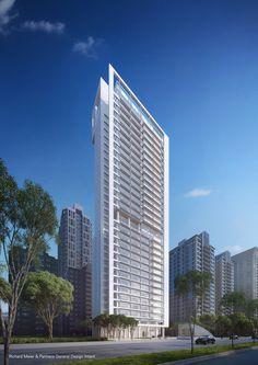 Richard Meier-Designed Skyscraper Underway in Taipei,© Vize.com; Courtesy Richard Meier & Partners Architects